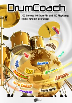 DrumCoach, 300 Grooves, 80 DrumFills und 120 PlayAlongs.