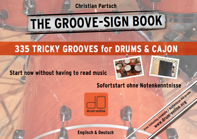 THE GROOVE-SIGN BOOK - Drums & Cajon ohne Noten - Christian Partsch